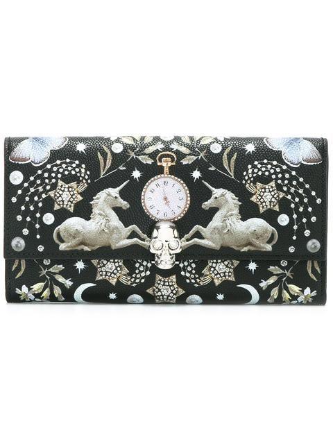 Alexander McQueen континентальный кошелек с принтом 'Nocturnal '