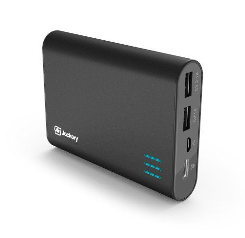 Holds enough power to charge your devices for days | Jackery® Giant+ Premium Portable Charger 12000mAh External Battery with Dual USB Port for iPhone 6, 6 Plus, iPad Air, Mini, Galaxy S5, Note (Black) Jackery