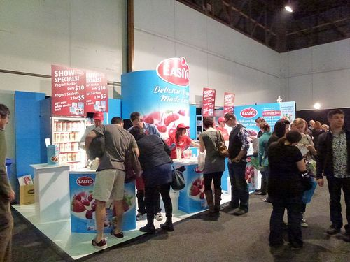 Eziyo exhibition stand - sampling taking place