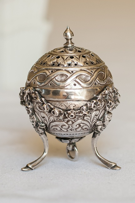 Time to replace the salt shakers.....Victorian Sterling Silver Footed Salt Shaker