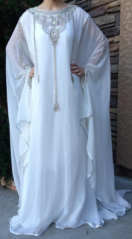 DUBAI VERY FANCY KAFTANS /abaya jalabiya Ladies Maxi Dress Wedding gown earing