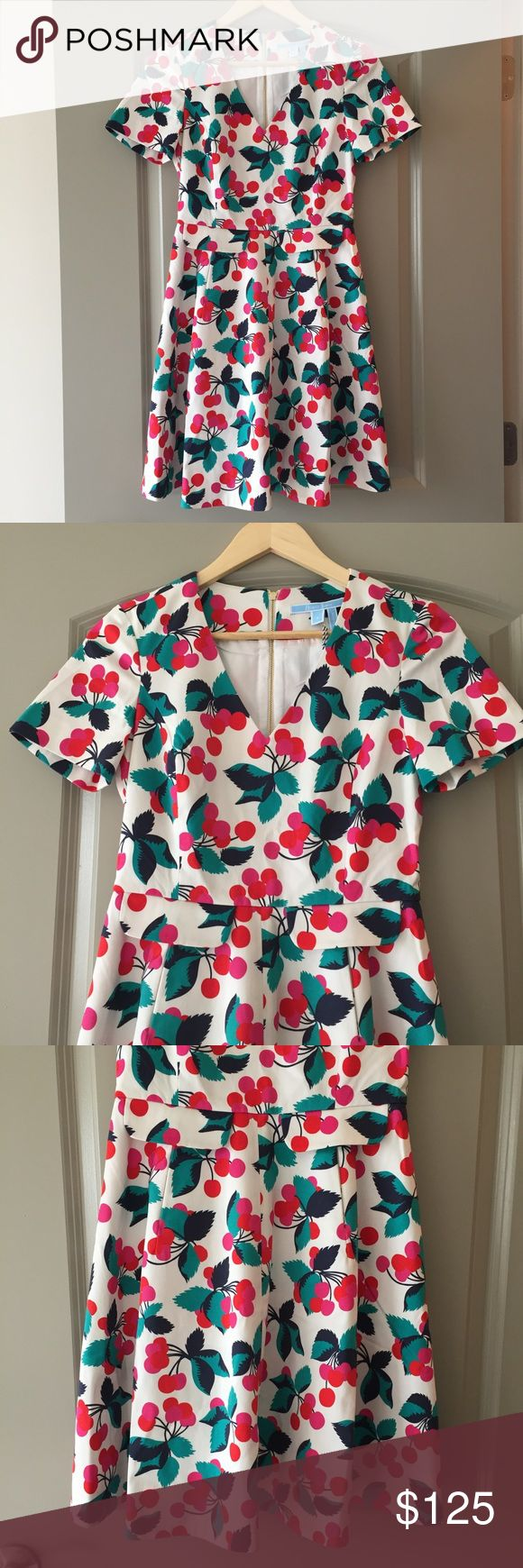 Sz 0 Draper James Cherry Orchard Love Circle Dress ***DISNEY LOVERS!! This dress would be perfect for Dapper Day @ Disney World!!*** This is NWTs, has never been worn and was bought from the Draper James website. No flaws. It is a size 0. I would have loved to keep it but I felt it looked too big/boxy on my petite frame. Price is firm due to posh fees and I'm trying to make back what I bought it for! Still available online but cheaper if you buy from me (no tax!). Draper James Dresses