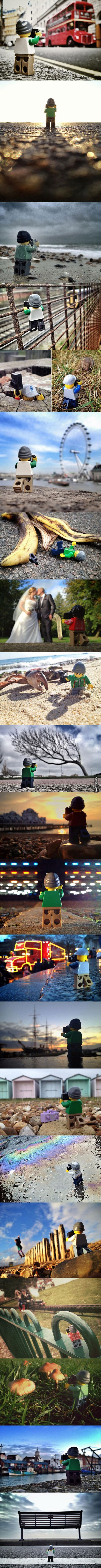 Andrew Whyte spent 365 days following this little LEGO photographer around and taking pictures.