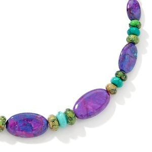 """Jay King Multicolor Turquoise Sterling Silver 18"""" Necklace at HSN.com."""