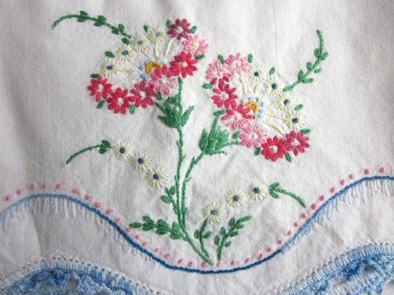 vintage pillow case - I wish I had some of grandmas pillow cases