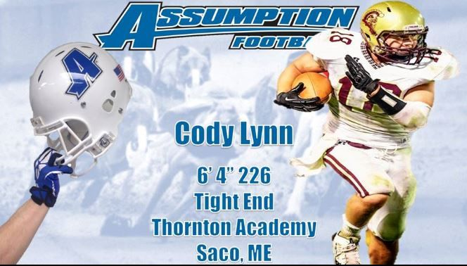 Congratulations to Cody Lynn who signed with #Assumption College for #Football from your OA Parisi Speed School coaches and the Parisi teams.