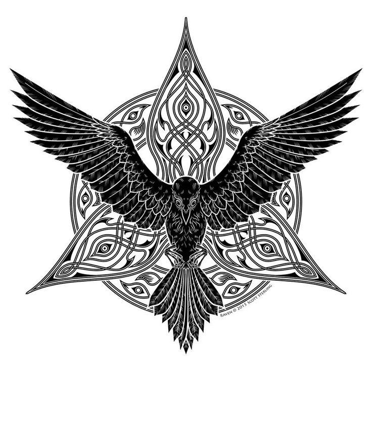 tribal raven tattoo google tattoo designs pinterest. Black Bedroom Furniture Sets. Home Design Ideas