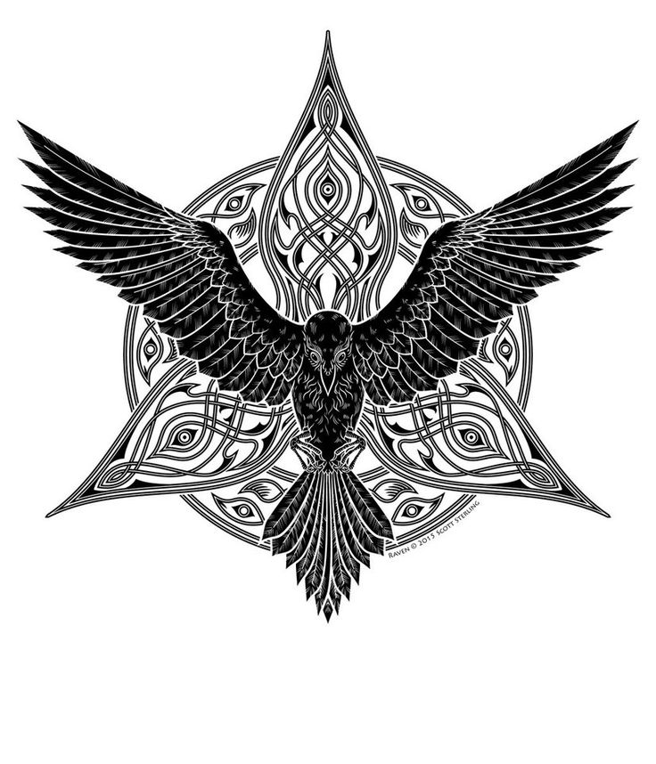 tribal raven tattoo - Google 検索                                                                                                                                                                                 More