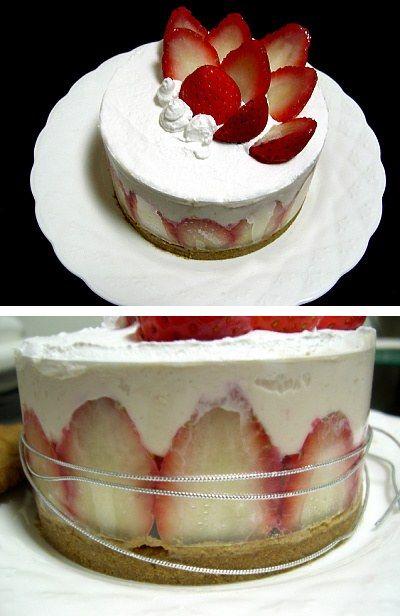 딸기 생크림 케이크