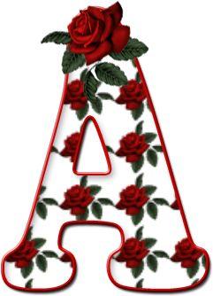 Alfabeto Decorativo: Alfabeto - Florido - PNG - Maiúsculas e Minúsculas.