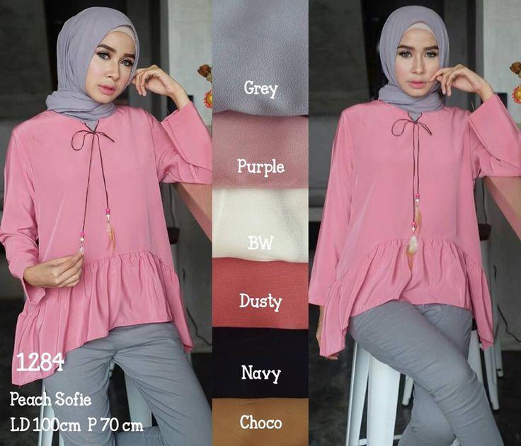 Ready SN1284 @55rb (KHUSUS GROSIR)  Bahan Peach Sofie  Seri 6 Warna  LD100 cm  P70 cm  ㅤ  New upload nih untuk reseller kesayanganku  konveksi busana muslim, wholesale yah sis......  Contact us for more detail  line : @ konveksi.hijab (pakai tanda @ yah)  WA : 0858 8342 5707   store location: PGMTA lantai LG blok B no.176  Menerima pembuatan model minimal 5 lusin yah sis untuk 1 model