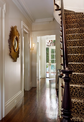 It's back! Leopard print stair runner. But we wonder, did this design statement ever really go away?