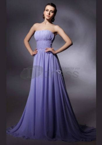 Sexy Prom Dresses-Chiffon Sheath/ Column Sweep/ Brush Sexy Prom Dress