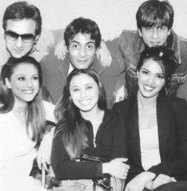 With friends. . . . SRK , Seif Ali Khan, Preity Zinta, Rani Mukherji , & 2 others I don't recognize