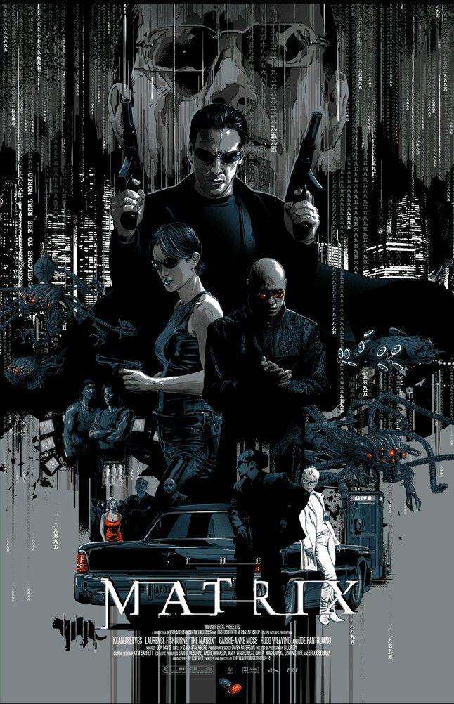 The Matrix Poster Art Action Movie Poster The Matrix Movie
