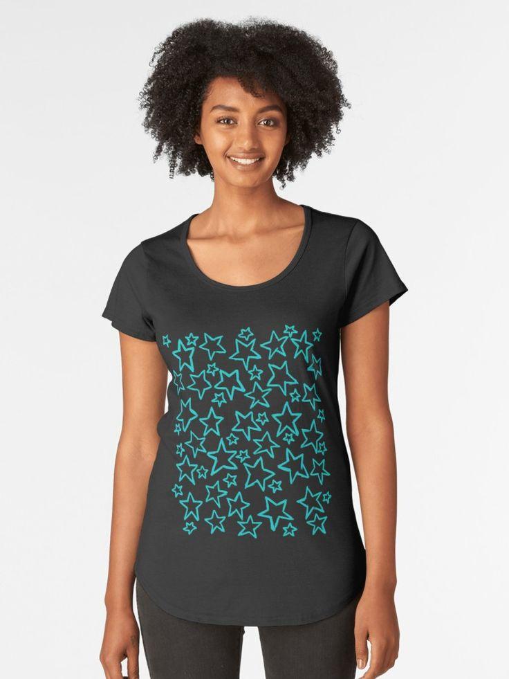 Etoiles bleues | T-shirt premium échancré