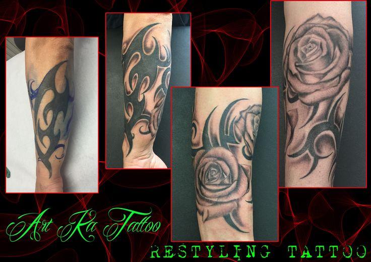#restyling #tattoo #restylingtattoo #tatuaggio #tribal #roses #flowers #flowerstattoo #ink #inked #artka #artkatattoo #pinerolo #pinerolotattoo #piemonte #torinotattoo #kattiusciacavaliere #pinterest #pinteresttattoo