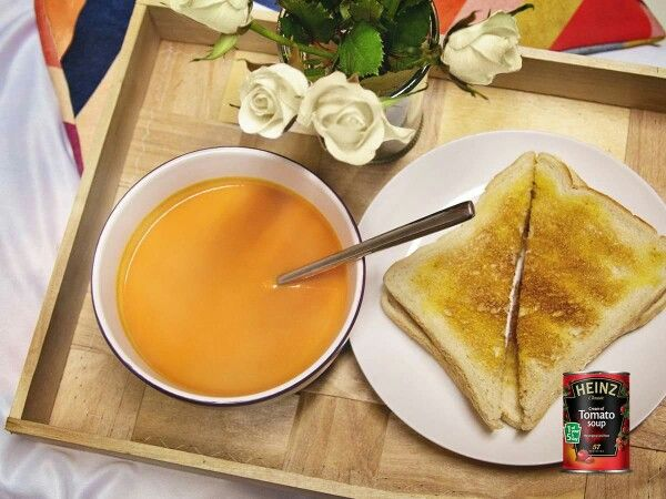 Heinz Cream of Tomato soup- comfort in a can and the only tinned soup I will buy