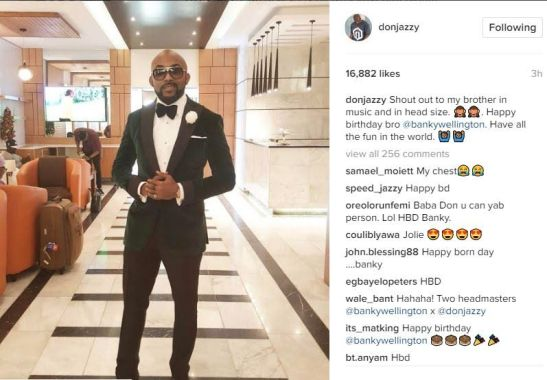 CHECK OUT DON JAZZY'S BIRTHDAY MESSAGE TO BANKY W