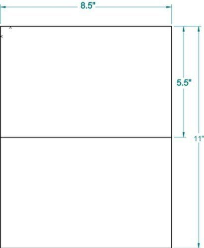 200 Shipping Labels White Blank Half Page Self Adhesive for Laser Inkjet Printer #other