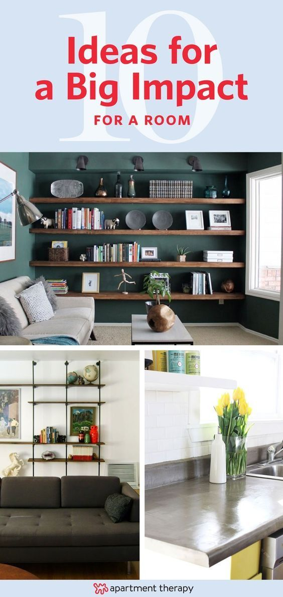 Looking for something that will dramatically change the look of a room? We've gathered some of our favorite projects that take an afternoon to a full weekend to complete. One might possibly inspire a room makeover this weekend for you