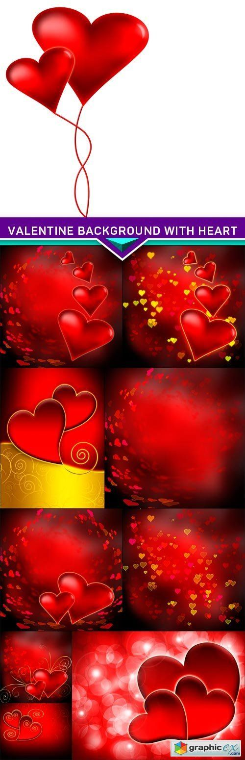 Valentine background with heart 10x JPEG  stock images