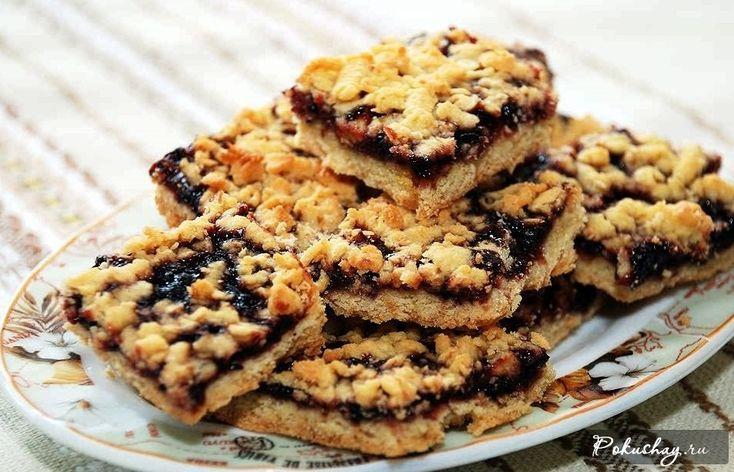 Песочный пирог с вареньем: простой рецепт с фото