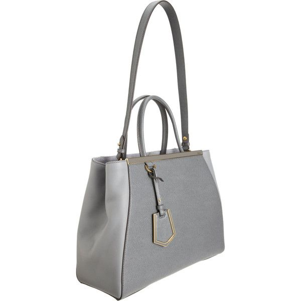 Fendi 2Jours Small Tote (3 544 270 LBP) ❤ liked on Polyvore featuring bags, handbags, tote bags, gray purse, grey tote, grey purse, fendi purses and gray tote