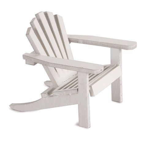 Timeless Minis Miniature Furniture Mini White Adirondack Chair