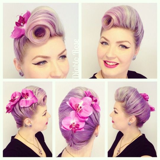 Diablo Rose and just one of her fabulous Victory Rolls