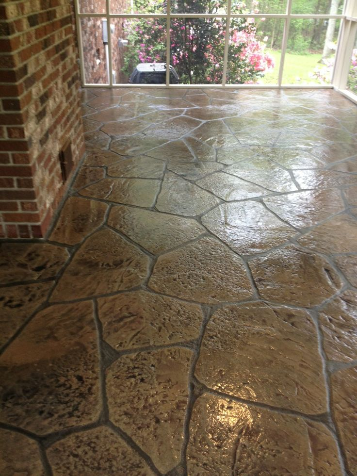 Flex C Ment Stamped Overlay Patio
