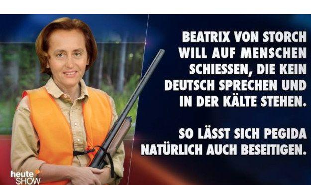 """Als diese AfD-Frau den Schießbefehl gab:   Die 29 witzigsten Momente der """"heute-show"""" aller Zeiten"""