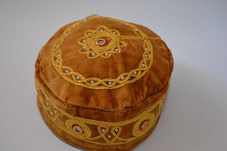 MEDIEVAL FOLKLORIC FEZ VELVET HAT CAP EXOTIC OTTOMAN COSTUME MIRROR EXOTIC #Handmade #TopHat
