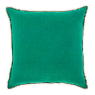 Picot cushion in Jade 50cm