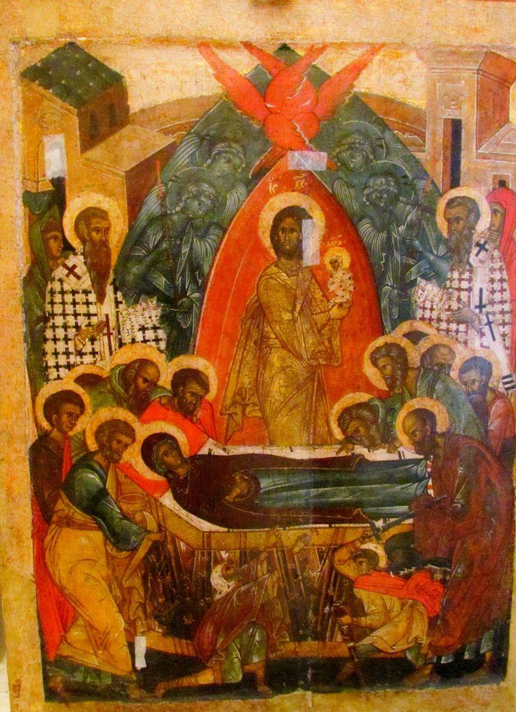 The Dormition of Theotokos, Pskov icon