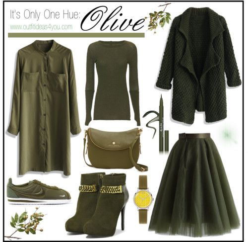 Fall Fashion is in full effect and gorgeous dark tones of olive have graced the runways and are now available in retail stores. So how do you wear this amazing warm color? Drench yourself in olive from head to toe. Add a few gold or silver accessories to make the color pop.  What are you thoughts