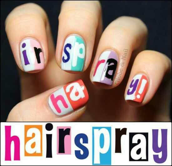 Hairspray nails...I gotta do these soon