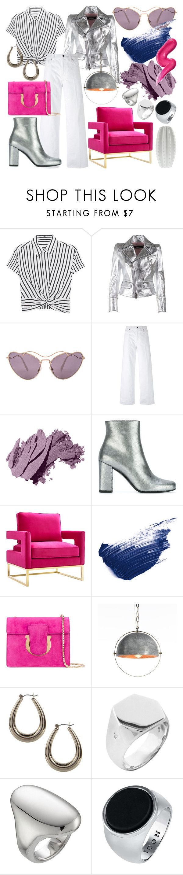 """Fuchsia Fusion"" by heybigtrender on Polyvore featuring T By Alexander Wang, Dsquared2, Miu Miu, Vince, Bobbi Brown Cosmetics, Yves Saint Laurent, By Terry, Salvatore Ferragamo, West Elm and Boohoo"