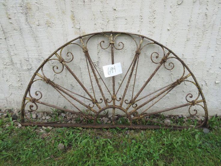 Antique Victorian Iron Gate Window Garden Fence Architectural Salvage Door #694