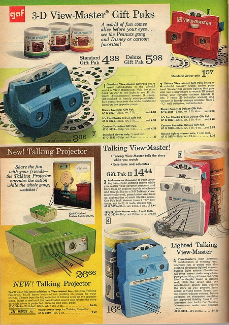 I have several view-master & a talking view-master... but I never saw a talking projector!!! Would be so cool to ad to my collection.