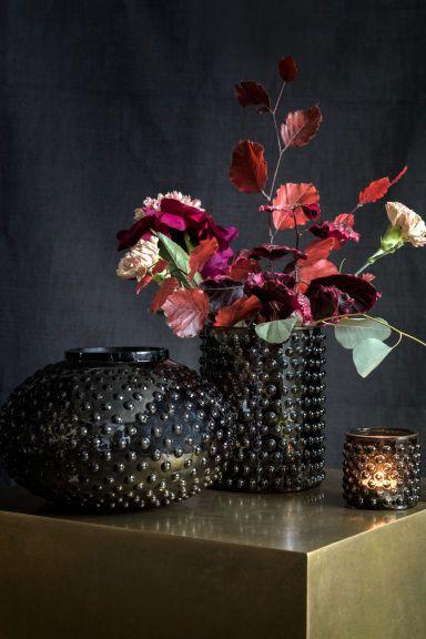Grand vase en verre texturé | H&M
