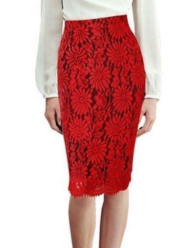 Plain Excellent Midi Skirts