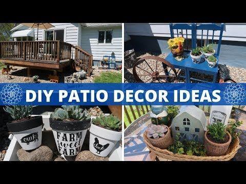 Farmhouse Patio Decor Ideas Terra Cotta Pot Diys Budget Friendly Outdoor Decor Youtube In 2020 Diy Patio Decor Patio Makeover Diy Patio