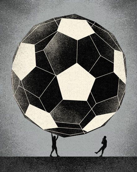 Patryk Mogilnicki | Eric Cantona 02 (Vice Italy). tags: illustration, drawing, art, black and white ...
