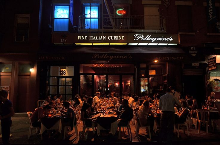 Pellegrino's in Little Italy, Manhattan. The food and atmosphere will never disappoint!  138 Mulberry Street; (212) 226-3177