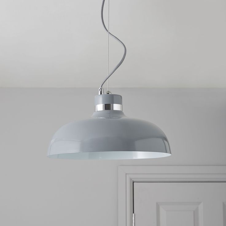 Holman Grey Pendant Ceiling Light | Departments | DIY at B&Q