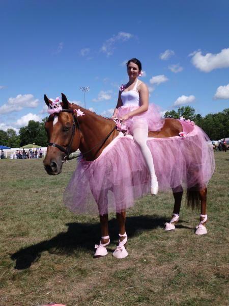 A girls dream be a ballerina on a ballerina horse