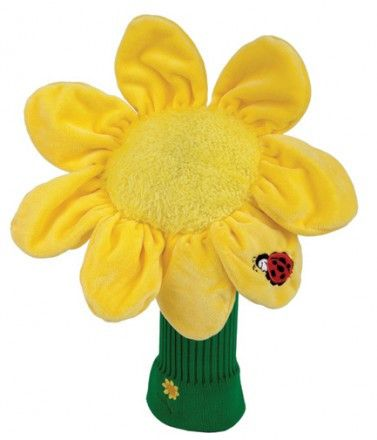 Sunflower Golf Head Cover This adorable Sunflower Golf Head Cover is a design by Daphnes Head Covers that will add some character to your golf bag. Let Your Personality Shine Through on the Golf Cours