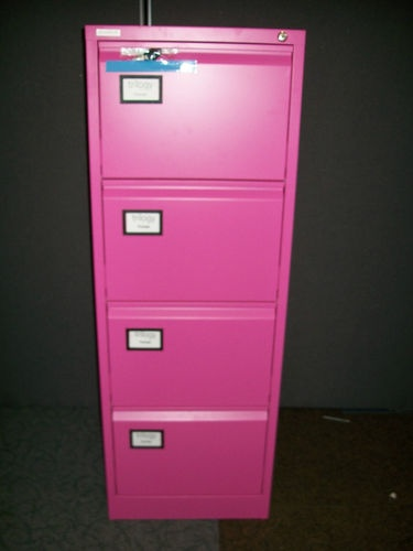 4 Drawer Filing Cabinet In Pink New