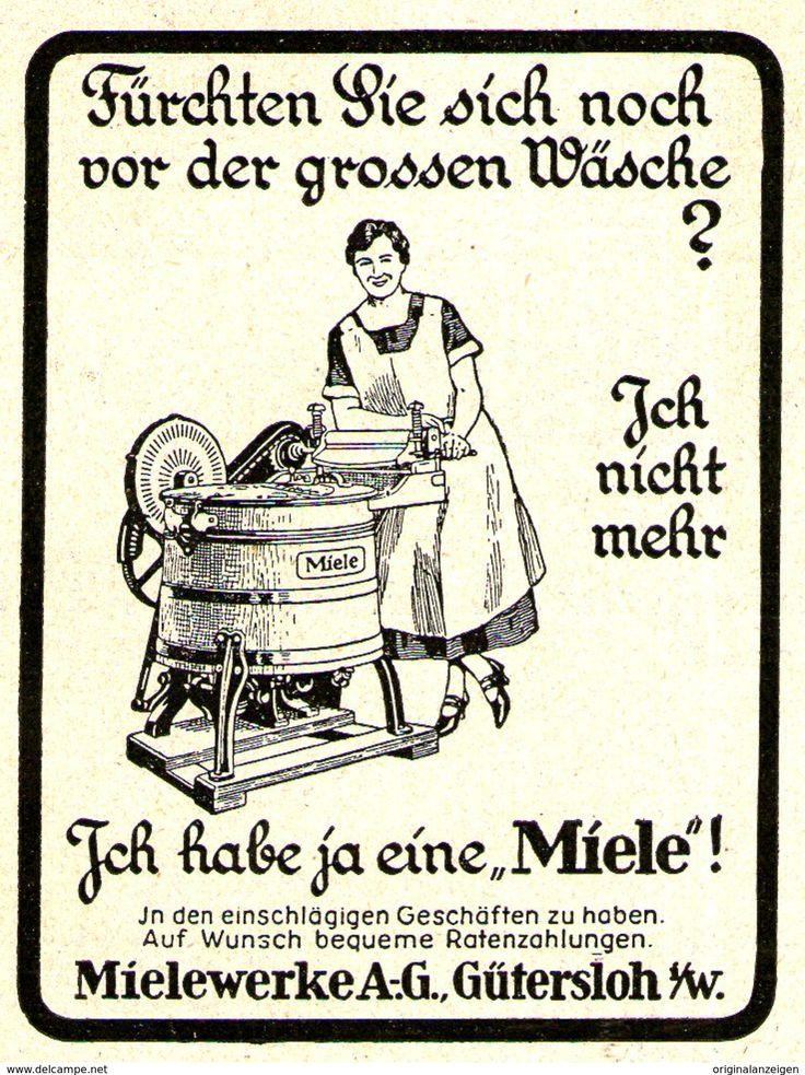 Werbung - Original-Werbung/ Anzeige 1927 - MIELE WASCHMASCHINE - ca. 65 x 75 mm